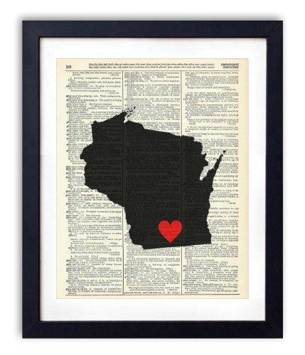 10. Vintage Wisconsin Wall Art