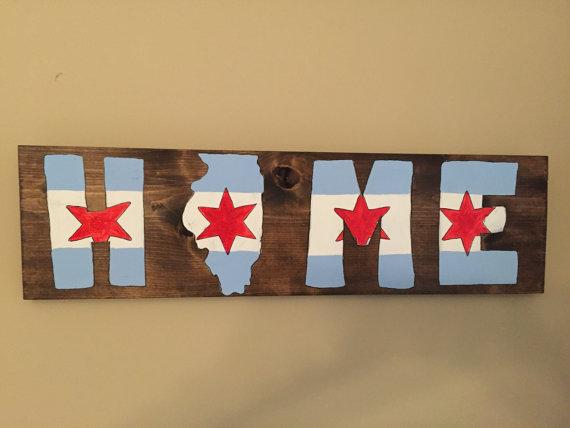8. Chicago Flag Wall Art