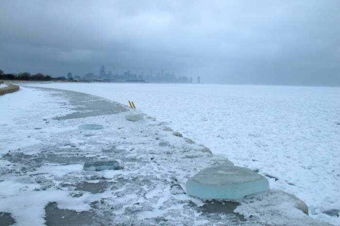 3. Snow can try to tame Lake Michigan.