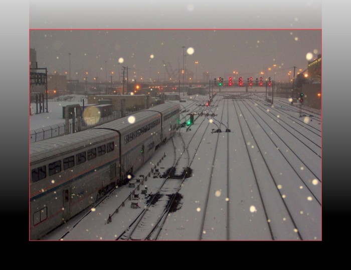 6. Snow can even make a trip on the Metra seem magical.