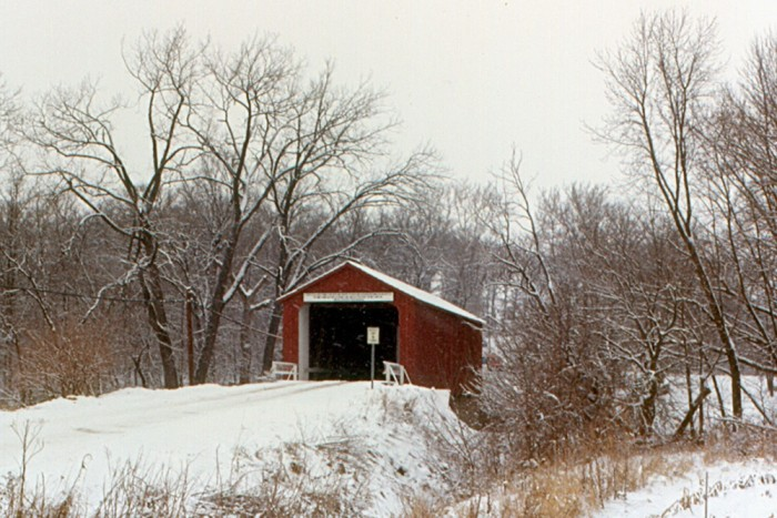 11. It can make a covered bridge look even more romantic.
