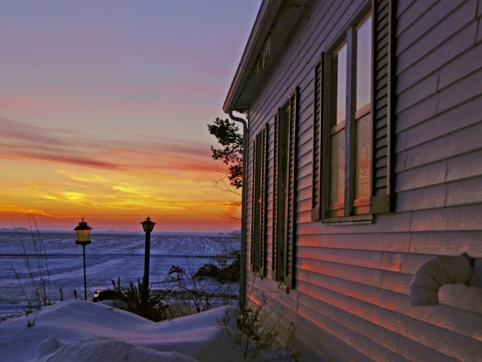 13. Snow can make sunsets that much more beautiful.