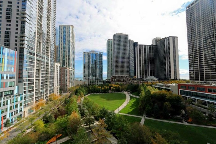 9. Who knew this beautiful park (Lake Shore East Park) was hiding right in downtown Chicago?