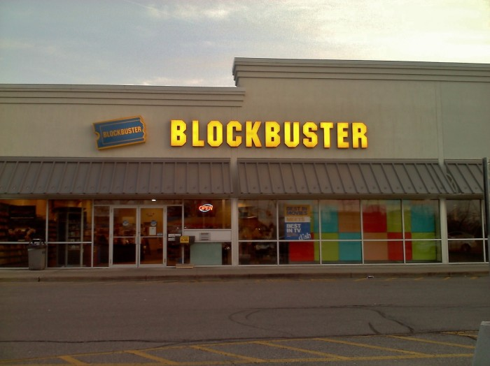 6. We drove in our cars to go rent movies.