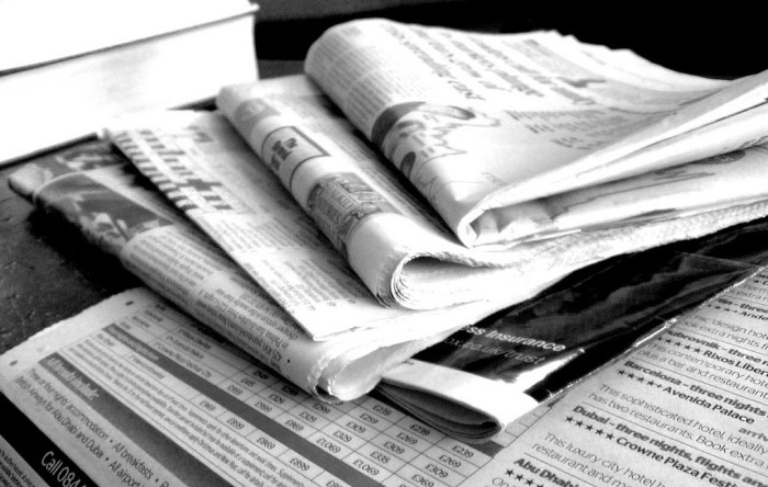 10. We read the newspaper.
