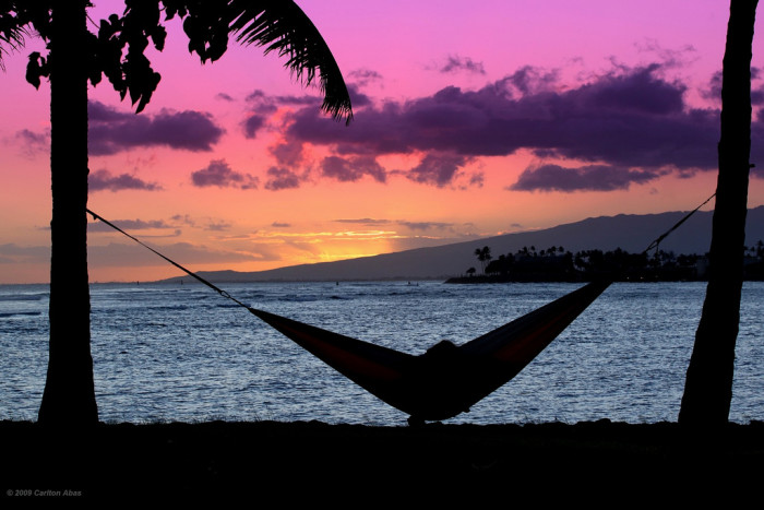 1) People from small Hawaiian towns live slowly, and take time to relax.