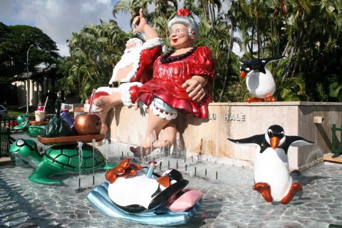1) Surfing Hawaiian Santa is so much cooler than regular Santa.