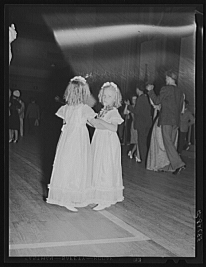 1) Sweet girls dancing at the Memphis cotton festival