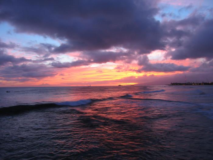 1) Watch the sun set over the ocean.