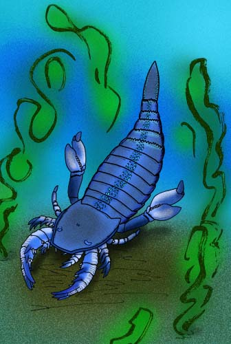 1. Scientists discovered giant sea scorpion fossils in the Upper Iowa River.