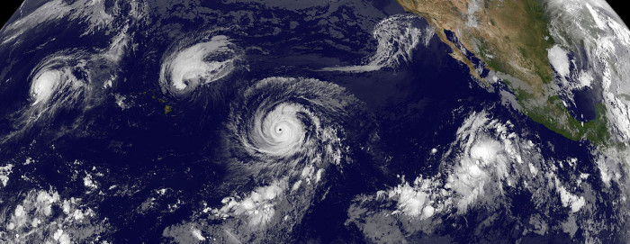 10) Santa brought us an El Nino year, which forced many hurricanes and tropical storms that had Hawaii in their sites to shift away from the islands.