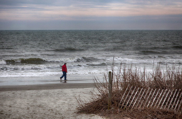 10. And in other parts, winter means less crowded beaches.