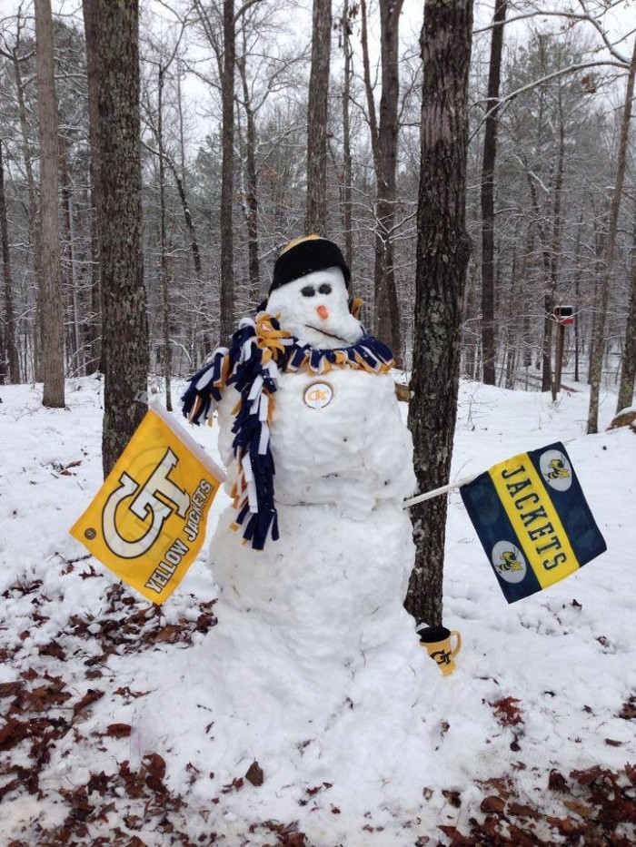 5. With the GA Tech Snowman - taken in February 2015.
