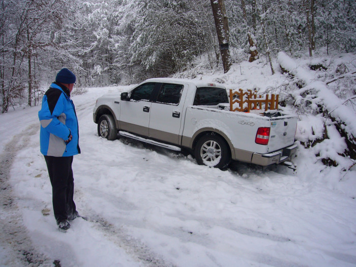 10. Leaving someone stranded in the snow. You bet we're going to turn around and help them.