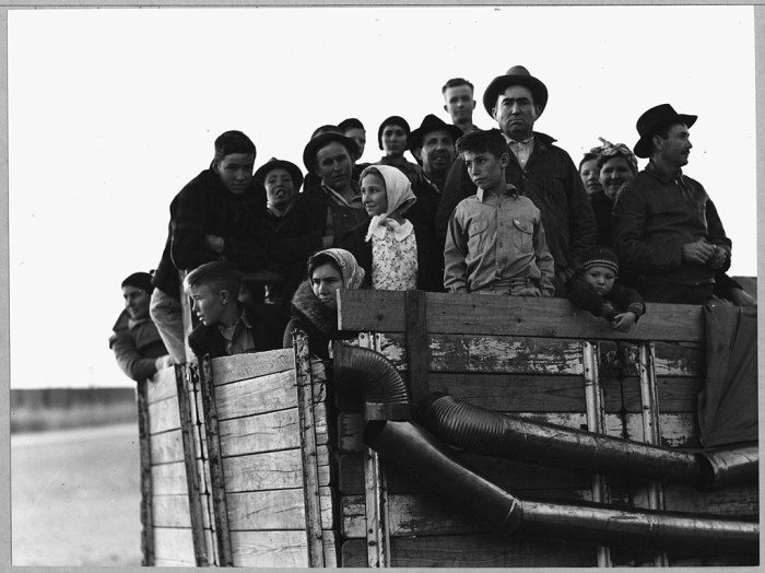 24. While the Depression ended in 1939, some people were still feeling the effects of the Depression into the new decade. This included migrant families displaced due to the Dust Bowl who were still on the lookout for work. For example, these folks from Arkansas arrived in Eloy to work as cotton pickers in 1940.