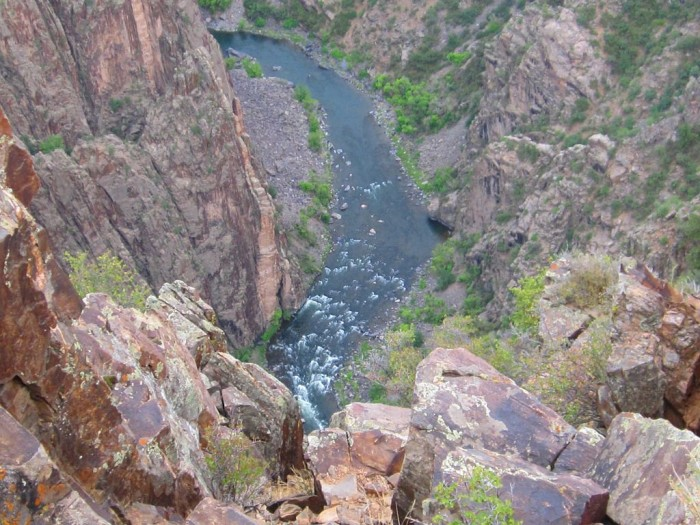 9. A wagon train containing new dimes from the Denver mint is said to have disappeared somewhere near the Gunnison River toward the north rim of Black Canyon.