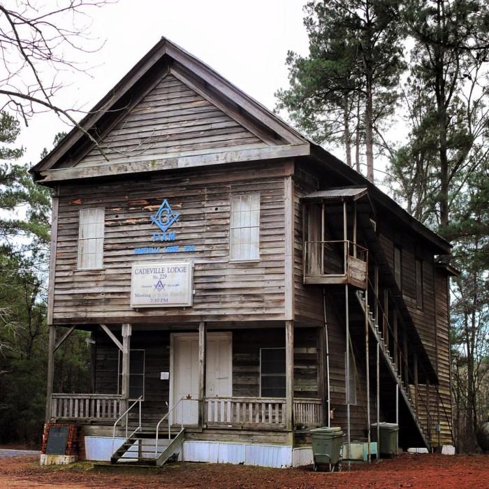 8. Cadeville Masonic Lodge , southwest Ouachita Parish