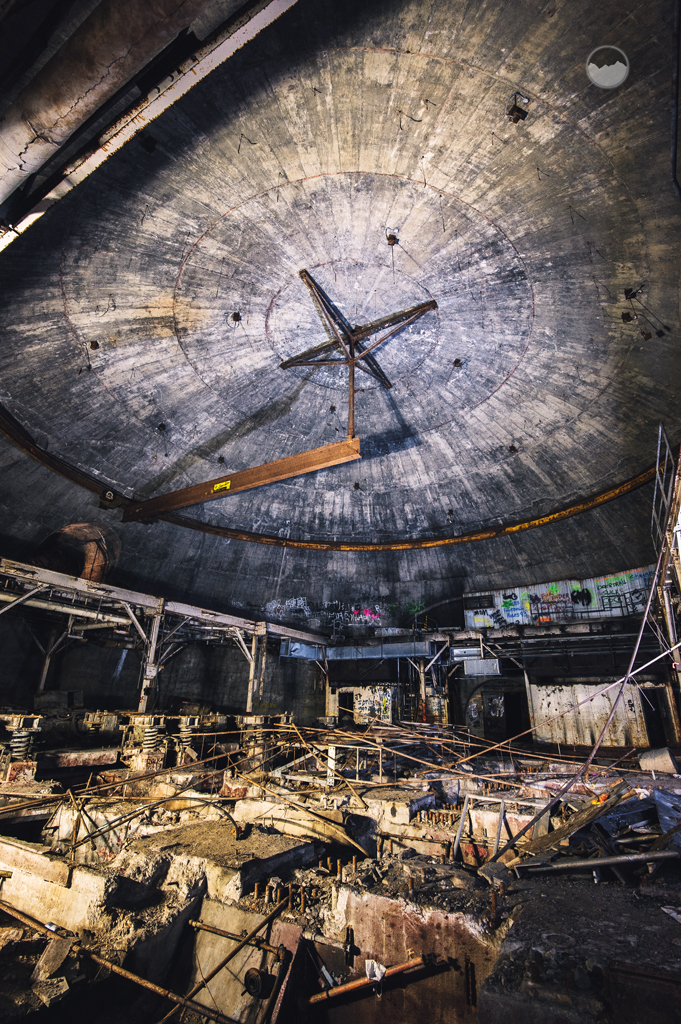 16. This eerie sight was once a Titan I Missile Silo.