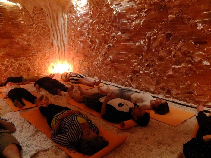2. You can also enjoy a yoga or meditation session in MN's first Salt Cave in Minneapolis.
