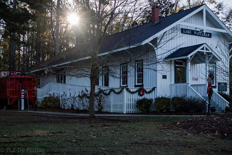 5. Lake Waccamaw's Depot Museum quaintly decorated for Christmas.