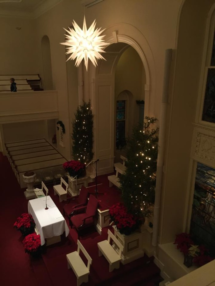 The Lititz Moravian Church may be the only  place in the country where you can see the 110 point Moravian star.