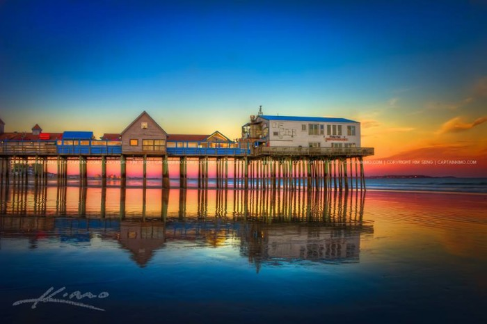 34. A goodnight sunset in Old Orchard Beach.