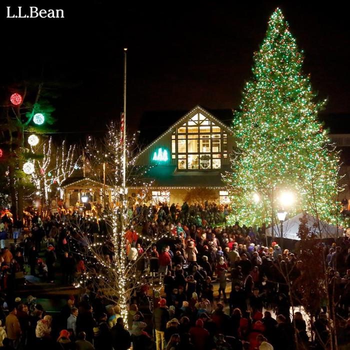 6. The L.L. Bean Northern Lights Celebration, Freeport