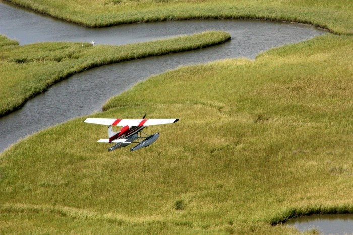 10. Get an aerial view of the swamps with a seaplane tour.