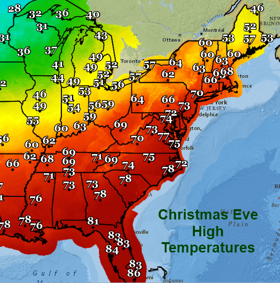 5. When this is the forecast for Christmas Eve across the U.S.!
