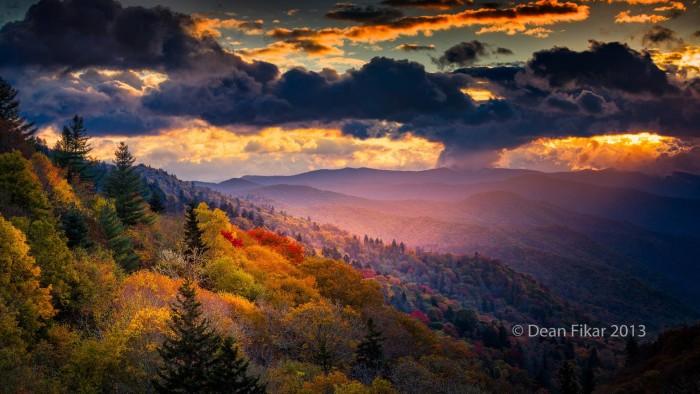 4. Dawn at the Oconaluftee Overlook in North Carolina by Dean Fikar.