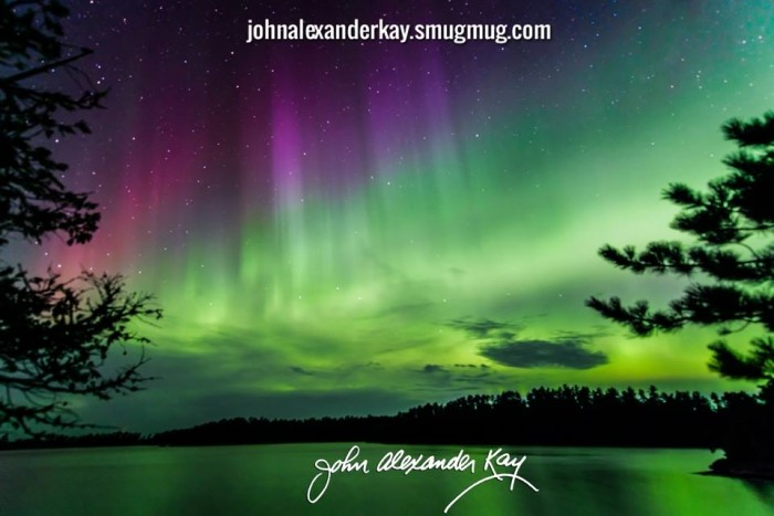 9. John Alexander Kay witnessed a beautiful show of lights on August 15th near the Canadian border.