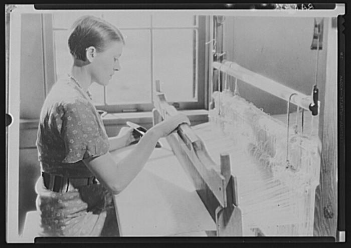 11) A woman weaving in Crossville