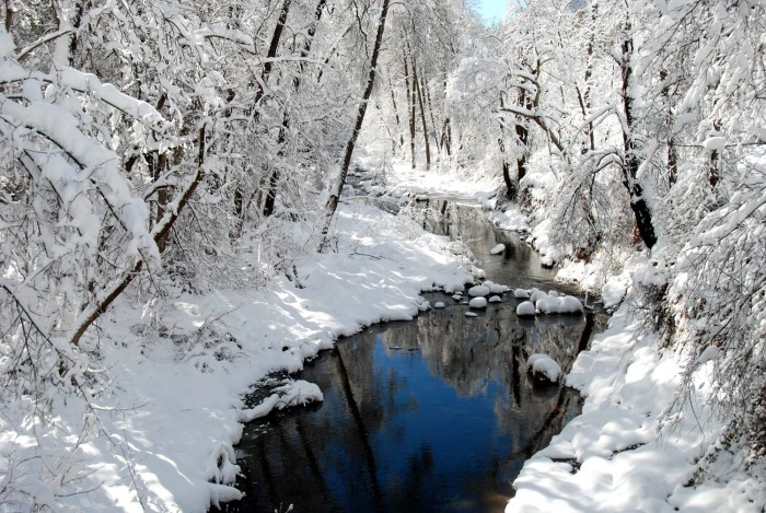 5. Or what about this? I don't think too many of us get to see Oak Creek when it's covered in snow.