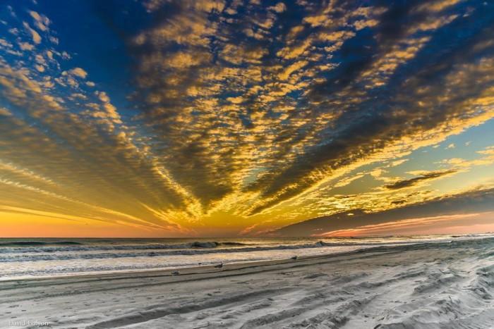 3. A stunning winter sunset captured on Atlantic Beach by David Galyon.