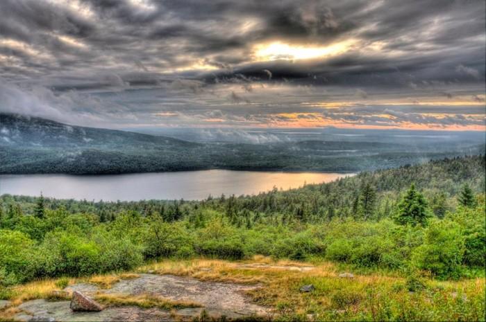 33. Sunset at Acadia National Park.