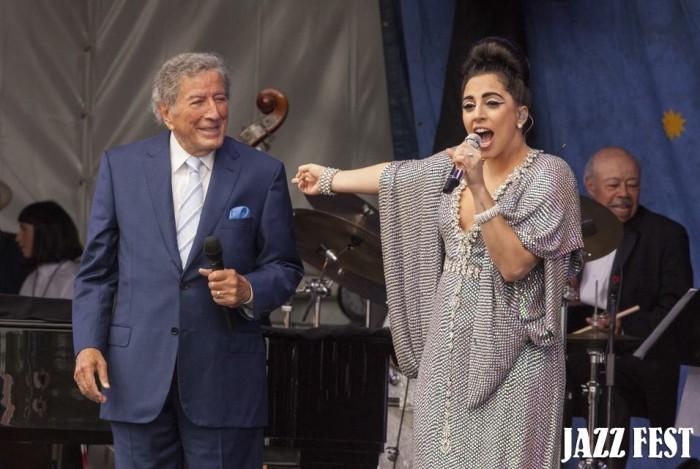 5. Tony Bennett & Lady Gaga at Jazz Fest