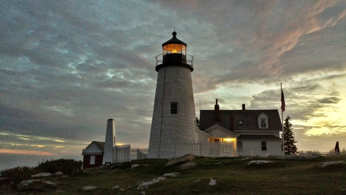 35. Last light home at Pemaquid Point Lighthouse.