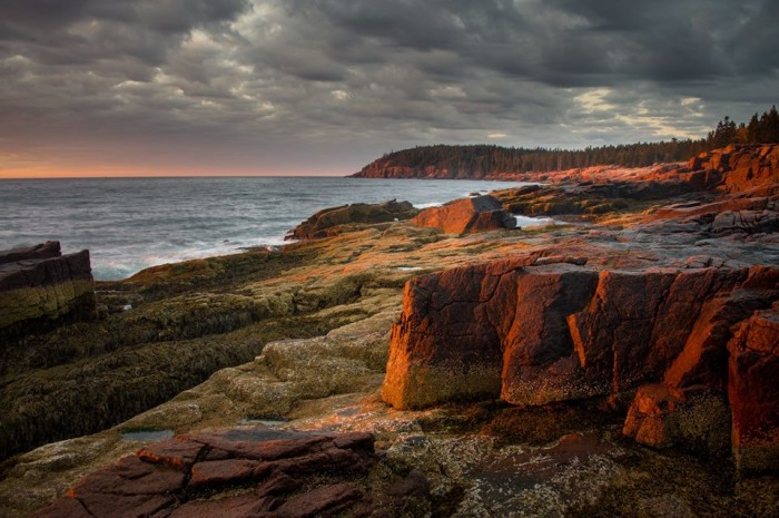 22. A slow morning sunrise in Acadia National Park.
