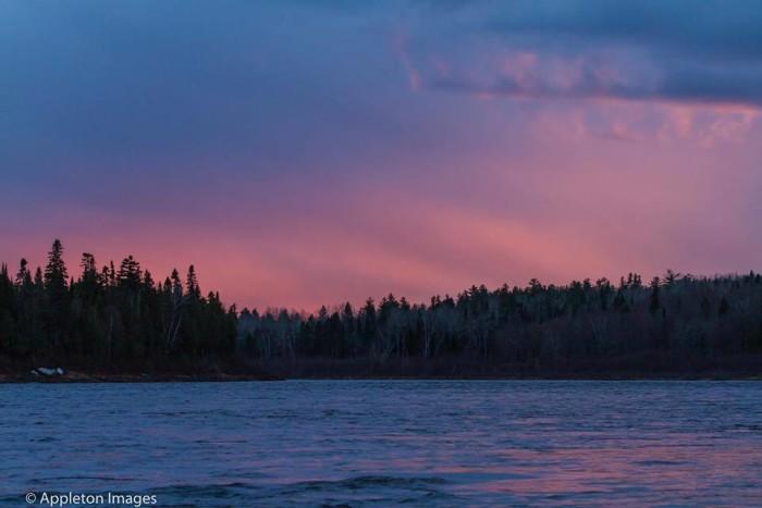 16. Stunning sunset over Saint John River in Allagash.