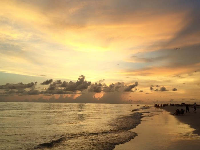 6. Candi Keene submitted this cloudy sunset on Anna Maria Island.