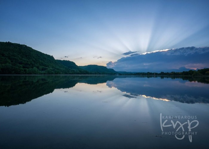 5. Kari Yearous caught a beautiful sunset on East Lake Winona this July.