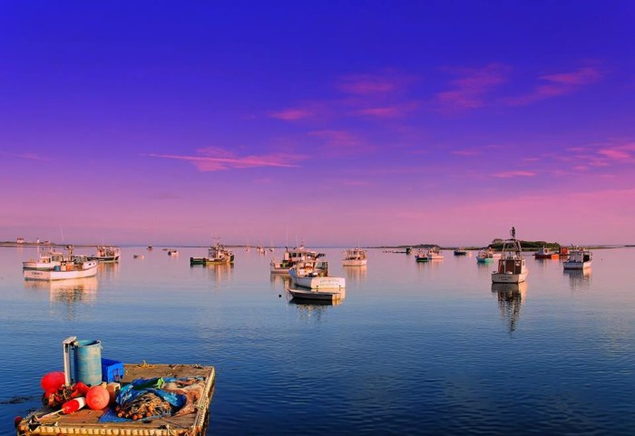 15. Brilliant colors during a sunset over Cape Porpoise.