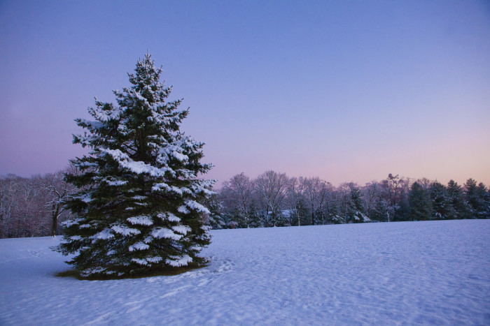 3. Sunset after a snowstorm in Hillsborough.