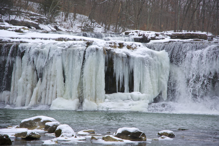 10. I could sit and look at the frozen falls for ages!