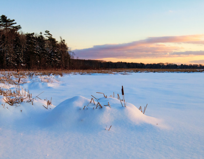 15. Cape Elizabeth's Great Pond is even more beautiful covered in snow.