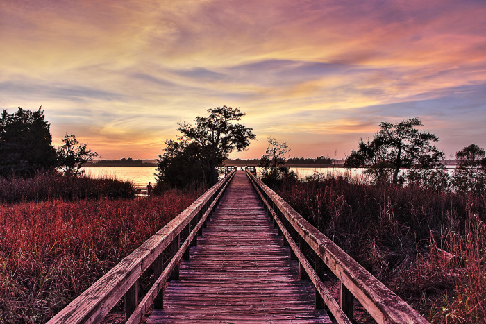 8. Those winter sunsets though...especially by the water in Wilmington.