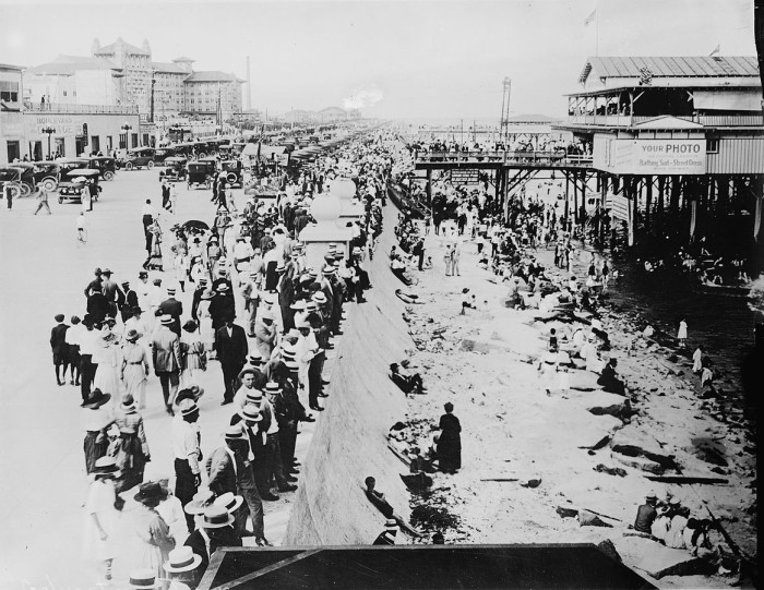 6. Luckily, Galveston was able to get back on its feet again with the construction of the seawall. Can you imagine how excited these people were? How many times have you walked on the seawall?