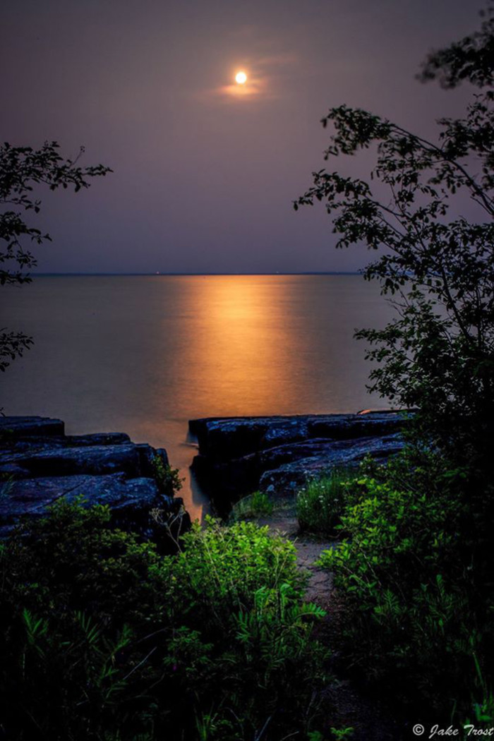 2. Jake Trost took a photo of the stunning moonrise over Superior this July.