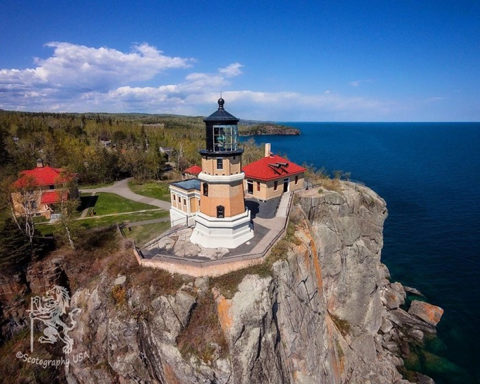 7. Scot Moncur took this awesome drone photo of Split Rock Lighthouse this summer.