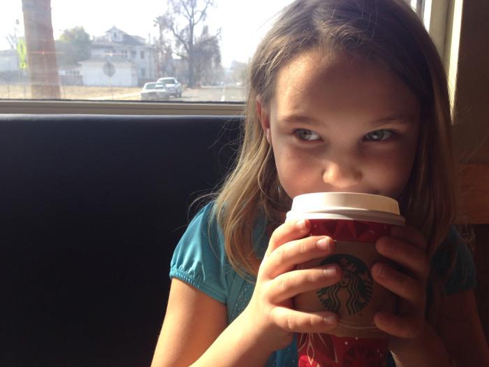 9. Drinking hot chocolate when you're wearing a t-shirt.
